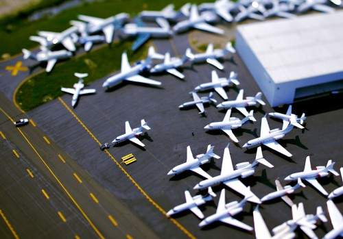 Example of tilt-shift photography by Vincent Laforet for Smashing magazine