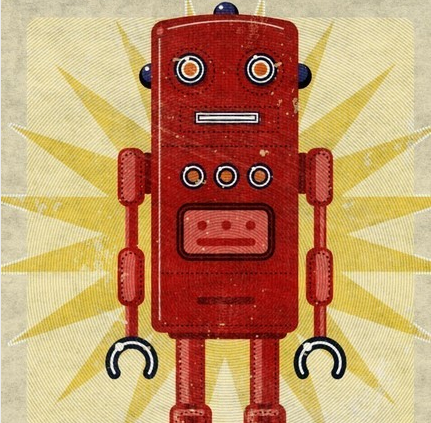 "etsy.com ""Ted Box Art Robot"" by John W. Golden"