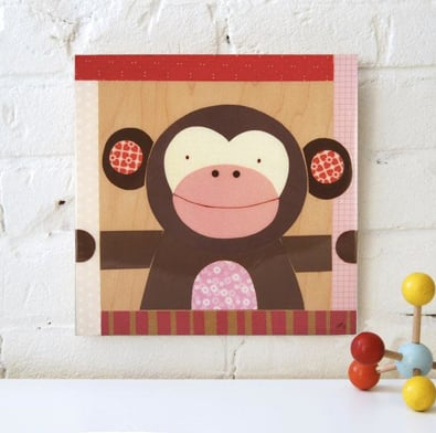 """petitcollage.com """"Pink Monkey"""" by Petit Collage"""