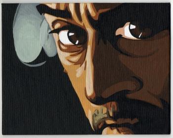 "Heat 2 Painting, by Michael Davis, Acrylic, 9.8 "" x 7.9 """