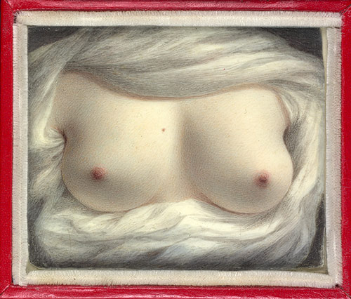 "Beauty Revealed, Sarah Goodridge, Watercolor on ivory,  2 5/8"" x 3 1/8"""