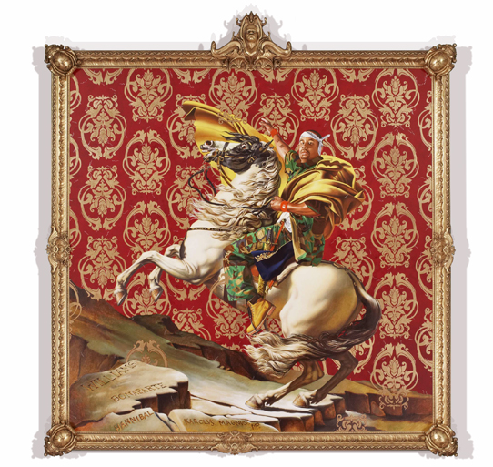 Napoleon Leading the Army over the Alps, 2005, by Kehinde Wiley  9' x 9'