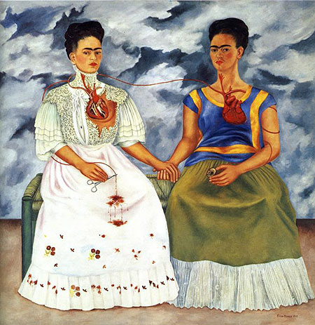 Painting Title: The Two Fridas 1939  Collection of the Museo de Arte Moderno, Mexico City