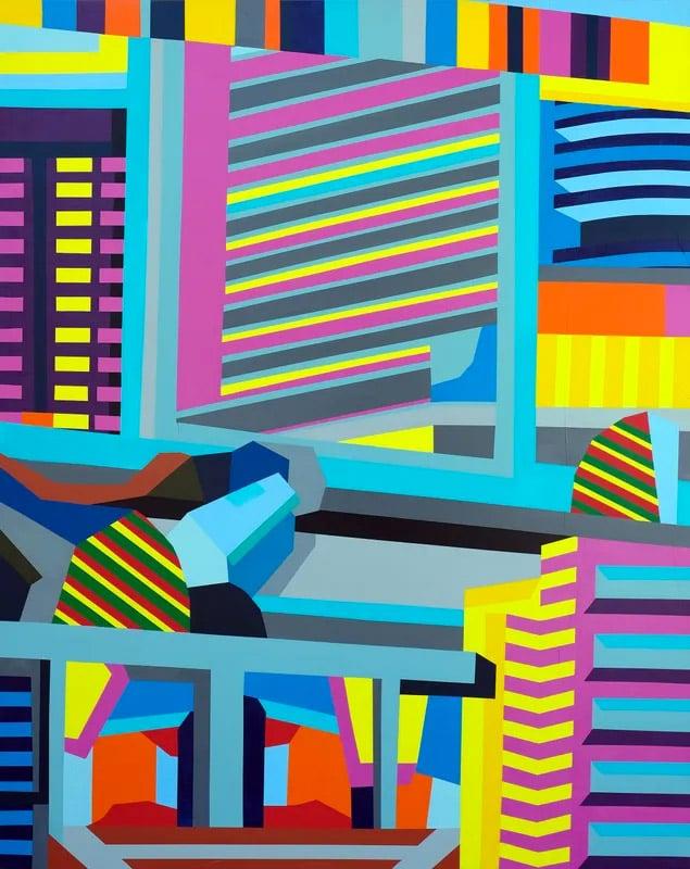 bright geometric canvas
