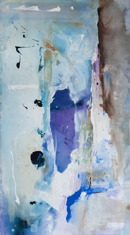 blue and purple abstract painting